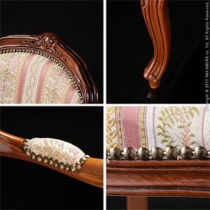 ヴェローナクラシック アームチェア イタリア 家具 ヨーロピアン アンティーク風(代引き不可)【送料無料】