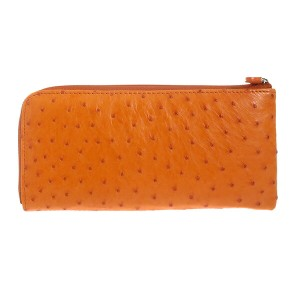5ad378c1637f ロダニア オーストリッチ L字ファスナー 長財布 OKNOS1682H-OR オレンジ