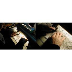 錦ヘビ 白マット 長財布 さいふ サイフ メンズ 錦蛇革・牛革使用 日本製【送料無料】
