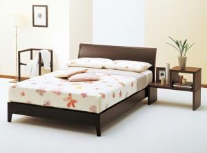 ASLEEP アスリープ ベッドフレーム セミダブルロングサイズ ナムール003 FS2207DR ダークブラウン 脚付き アイシン精機 ベッド