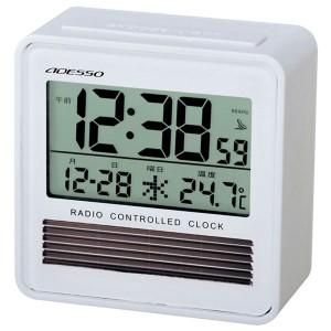 エコソーラー電波時計 C-8367 エコソーラー電波時計 C-8367W(ホワイト)/80点入り(代引き不可)