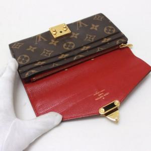 あす着 LOUIS VUITTON ルイヴィトン M58414 2つ折り長財布 ポルトフォイユパラス モノグラム 長財布