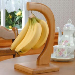 用途いろいろ 桐製バナナスタンド 高級感たっぷり