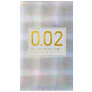 コンドーム うすさ均一 0.02 EX 6個入 オカモト 避妊具 condom 002 0.02 ゼロツー