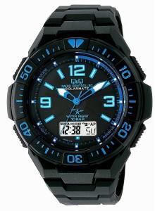 シチズン Q&Q 腕時計 キューアンドキュー ウォッチ 電波ソーラー腕時計 SOLARMATE (ソーラーメイト) アナログ表示 クロノグラフ機能付き