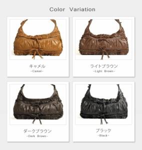 ソフトカウフリルデザインハンドバッグショルダーバックバッグ鞄メンズ男性人気本革革本物ブランド斜めかけカバン母の日ギフト(No.7015)