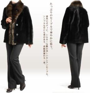 ファー毛皮シェアードミンクジャケットコートミンク本革(No.103135)