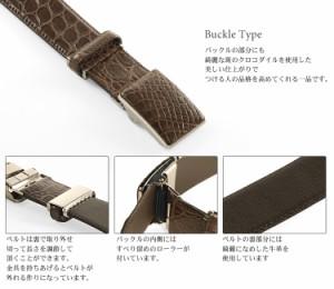 クロコダイルベルトブランドベルトbelt本皮革ワニ人気送別会(No.9055-buckle)