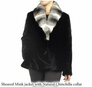 シェアードミンクジャケットチンチラ襟母の日ギフト(No.103128)