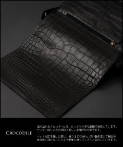 クロコダイルショルダーバッグマット加工かぶせデザインバッグおしゃれ本物ワニ革本革カバン(No.9389)