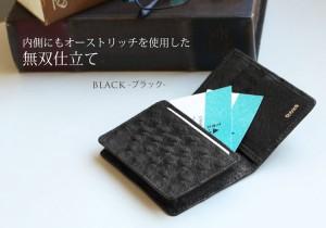 オーストリッチ 名刺入れ フルポイント / メンズ カードケース (No.9079m)