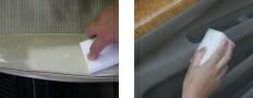 クリンフォーム3個組 // 洗車用品 激落ち スポンジ 内装 ルームクリーニング 車内 ソファー レザー プラスチック 樹脂 合皮 革製品 汚れ