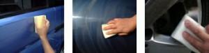 ユーティリティー スポンジ3個組 // ガラス系コーティング剤 塗り込み コート剤 WAX 洗車用品 カーワックス 塗り 水垢取り 水垢除去 水垢