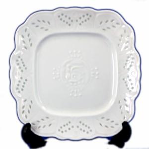 日本製 アンティーク ホタル透かし 8.0四角皿 20x20xH2.5cm