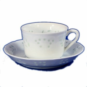 日本製 アンティーク ホタル透かし 紅茶 C/S カップ: D8xH5.4cm・150cc 皿: D14xH2.6cm