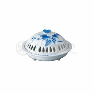 蚊取り器 香炉風葡萄蚊遣器 [磁 器] [高さ 10.5 x 横巾17cm] 納涼 インテリア かわいい 涼しい 夏
