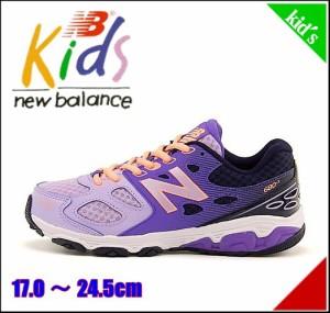 ニューバランス 女の子 男の子 キッズ 子供靴 スニーカー KR680 new balance 170680 パープル/ネイビー