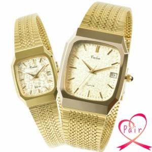 クロトン CROTON ペアウォッチ 腕時計 メッシュベルト croton-rt-126m-2 croton-rt-126l-2 セット ゴールド/ゴールド