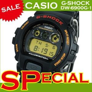 CASIO カシオ G-SHOCK Gショック メンズ 腕時計 海外モデル DW-6900G-1V 黒 ブラック