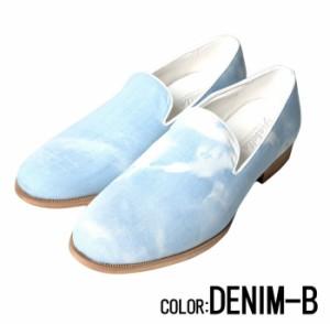 SB Select【シルバーバレットセレクト】デニム柄 スリッポン (オペラシューズ) /全2色 trend_d メンズ ビター系