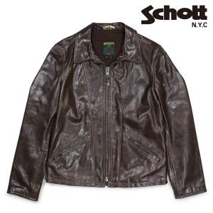 ショット Schott ジャケット トラッカージャケット レザージャケット メンズ TRUCKER JACKET ブラウン 553 12/27 新入荷