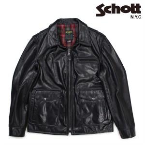 ショット Schott シングルライダースジャケット ジャケット レザージャケット メンズ MOTORCYCLE JACKET ブラック 573 12/27 新入荷