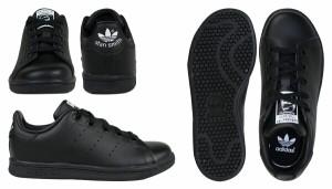 adidas アディダス スタンスミス スニーカー キッズ STAN SMITH EL C BA8376 靴 ブラック