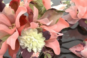[成人式にオススメ☆広がるヘアアレンジ♪和洋兼用プチサイズお花髪飾り2点セット]ピンク/卒業式/ドレス/パーティー/袴
