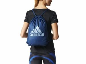 アディダス:【メンズ&レディース】ビッグロゴ ジムバッグ【adidas ナップサック ジムバッグ】
