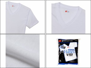 ヘインズ:【メンズ】アオラベルVネックTシャツ【Hanes 半袖  Tシャツ アパレル】