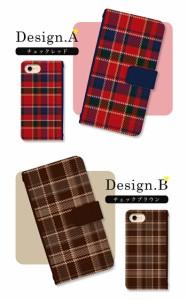 スマホケース 全機種対応 手帳型 Xperia SO-02K XZ1 SO-01K SO-03J SO-01J SO-02J iPhone スマホカバー 手帳 かわいい シンプル チェック