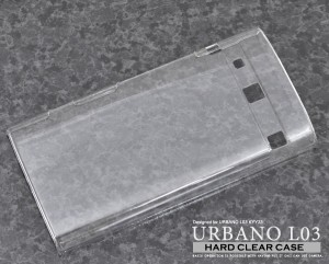 URBANO L03 KYY23 ケース ポリカーボネイト L03ケース L03カバー L03 カバー L03 ケース カバー クリアケース ハード 京セラ