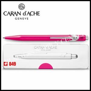 ★限定品★Caran d'Ache(カランダッシュ) ボールペン 849ポップライン 缶ケース入り 蛍光ピンク NF0849-590