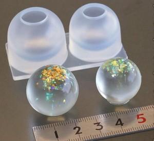 (S360) シリコンモールド ビー玉 球体  ガラスボール Lサイズ 2サイズ