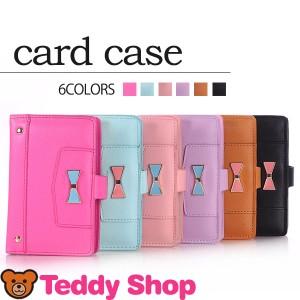 カードケース レディース リボン 大容量 薄型 ブランド かわいい 40枚 カードホルダー カード入れ 名刺入れ 定期入れ 革 ポイントカード