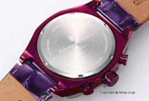 サルバトーレマーラ メンズ腕時計 Salvatore Marra パープル(シルバー)/パープルレザー SM15115-SSPL