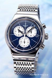 スウォッチ 腕時計 SWATCH YVS410G NEW IRONY CHRONO(ニューアイロニークロノ) WALES(ウェールズ)