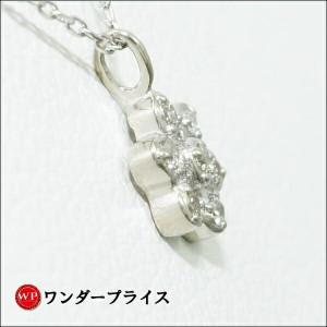 K10 10金 WG ホワイトゴールド ネックレス ダイヤ 0.03
