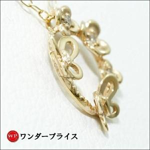K10 10金 YG イエローゴールド ネックレス ダイヤ 0.02