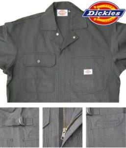 ディッキーズ Dickies 703 作業服 ストライプ つなぎ メンズ おしゃれ 4L,5L
