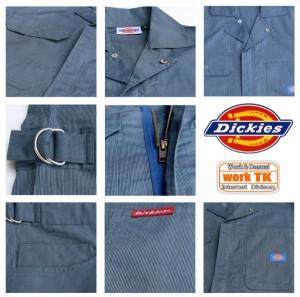ディッキーズ 半袖 ストライプつなぎ 作業着 作業服 つなぎ メンズ おしゃれ 4L 5L Dickies713