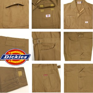 ディッキーズ つなぎ ツナギ メンズ おしゃれ バイオウオッシュ 綿100% DICKIES ワーク Dickies-TK702