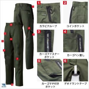 作業ズボン レディースカーゴパンツ 作業服 作業着 秋冬用素材 スタイリッシュさと機能性の融合 sw-8110
