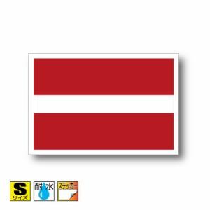 ■ラトビア国旗ステッカー(シール) 屋外耐候耐水 Sサイズ 5cm×7.5cm ヨーロッパ /スーツケースや車などに! 防水仕様