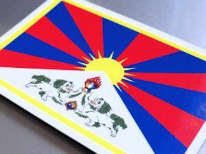 チベット旗マグネット屋外耐候耐水 Lサイズ 10cm×15cm