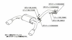 【代引手数料無料】柿本改 カキモトレーシング Class KR ダイハツ コペンローブ FF LA400K用(D71314)