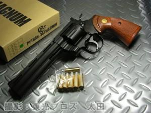 タナカ 発火モデルガン コルトパイソン 6インチ ヘビーウェイト HW