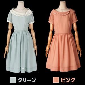 オリジナルデザイン ナチュラルファッション フレア姫ワンピース(シフォン/ドレス/民族系/エスニック/半袖)