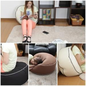 日本製 ワッフル素材 タイコ型 ビーズクッション クッション ビーズ ふわふわ もこもこ ワッフル 座布団 ざぶとん 座椅子 椅子 いす チェ