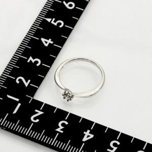 6 600本突破!6本爪 セッティング 1粒 シルバー リング ギフト レディース プレゼント アクセサリー 指輪 ピンクゴールド 送料無料